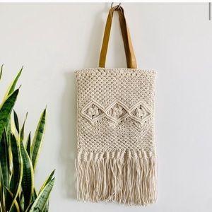 NEW Macrame Spring Shoulder Shopper Bag